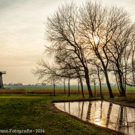 Schermerhorn windmill sunset