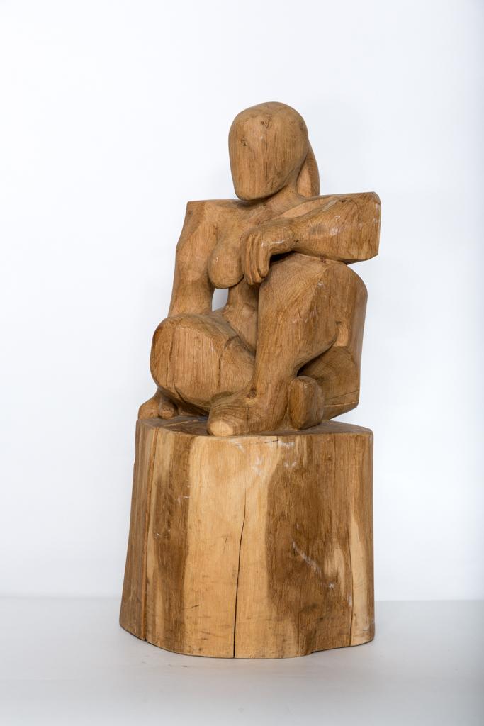 Beelden Amersfoortse houtkunstenaar op de foto